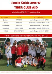 Orari Scuola Calcio 2016-17